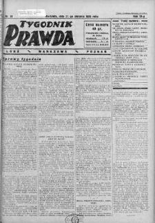 Tygodnik Prawda 27 sierpień 1933 nr 35