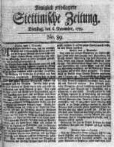 Stettinische Zeitung. Königlich privilegirte 1759, Nr 89