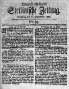 Stettinische Zeitung. Königlich privilegirte 1759, Nr 93