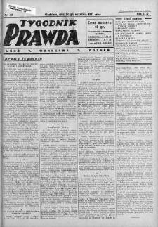 Tygodnik Prawda 24 wrzesień 1933 nr 39