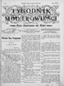 Tygodnik Mód i Powieści. Pismo ilustrowane dla kobiet 1906, Nr 33
