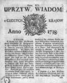 Uprzywilejowane Wiadomości z Cudzych Krajów 1738, Nr 91