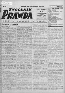 Tygodnik Prawda 19 listopad 1933 nr 47