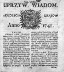 Uprzywilejowane Wiadomości z Cudzych Krajów 1741, Nr 234