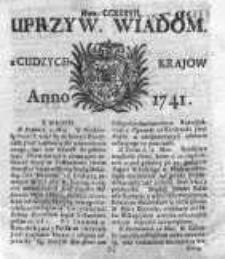 Uprzywilejowane Wiadomości z Cudzych Krajów 1741, Nr 237