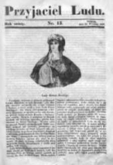 Przyjaciel Ludu czyli Tygodnik potrzebnych i pożytecznych wiadomości 1839/40, R.6, nr 13