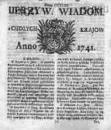 Uprzywilejowane Wiadomości z Cudzych Krajów 1741, Nr 243