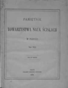 Pamiętnik Towarzystwa Nauk Ścisłych w Paryżu, 1876, T.8