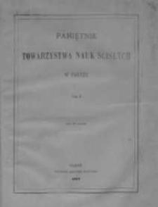 Pamiętnik Towarzystwa Nauk Ścisłych w Paryżu, 1878, T.10