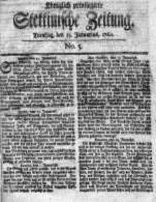 Stettinische Zeitung. Königlich privilegirte 1760, Nr 5