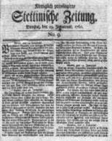 Stettinische Zeitung. Königlich privilegirte 1760, Nr 9