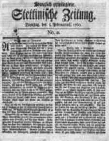 Stettinische Zeitung. Königlich privilegirte 1760, Nr 11