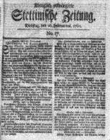 Stettinische Zeitung. Königlich privilegirte 1760, Nr 17