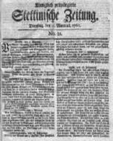Stettinische Zeitung. Königlich privilegirte 1760, Nr 21