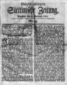 Stettinische Zeitung. Königlich privilegirte 1760, Nr 23