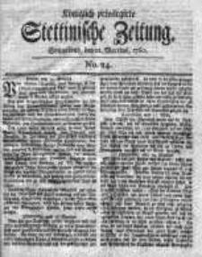 Stettinische Zeitung. Königlich privilegirte 1760, Nr 24