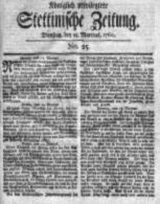 Stettinische Zeitung. Königlich privilegirte 1760, Nr 25