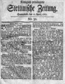 Stettinische Zeitung. Königlich privilegirte 1760, Nr 30