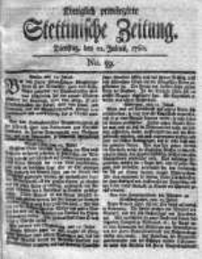 Stettinische Zeitung. Königlich privilegirte 1760, Nr 59