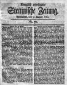 Stettinische Zeitung. Königlich privilegirte 1760, Nr 70