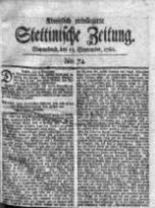 Stettinische Zeitung. Königlich privilegirte 1760, Nr 74