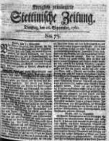 Stettinische Zeitung. Königlich privilegirte 1760, Nr 75