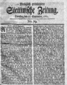 Stettinische Zeitung. Königlich privilegirte 1760, Nr 79