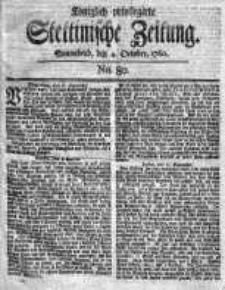 Stettinische Zeitung. Königlich privilegirte 1760, Nr 80