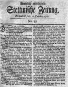 Stettinische Zeitung. Königlich privilegirte 1760, Nr 82