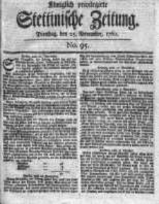 Stettinische Zeitung. Königlich privilegirte 1760, Nr 95