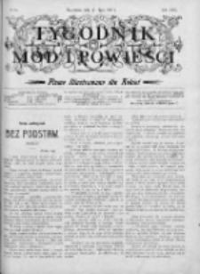 Tygodnik Mód i Powieści. Pismo ilustrowane dla kobiet 1907, Nr 28