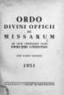 Ordo Divini Officii ac Missarum ad usum Vernerabilis Cleri Dioecesis Lodzensis pro Anno Domini 1951