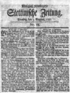 Stettinische Zeitung. Königlich privilegirte 1767, Nr 18
