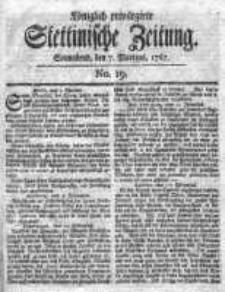 Stettinische Zeitung. Königlich privilegirte 1767, Nr 19