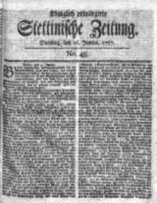 Stettinische Zeitung. Königlich privilegirte 1767, Nr 48