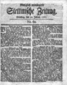 Stettinische Zeitung. Königlich privilegirte 1767, Nr 60