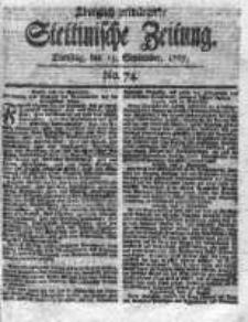 Stettinische Zeitung. Königlich privilegirte 1767, Nr 74