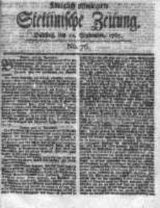 Stettinische Zeitung. Königlich privilegirte 1767, Nr 76