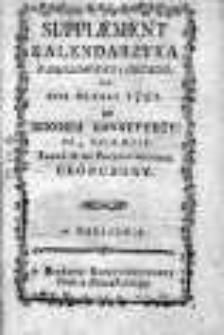 Suplement Kalendarzyka Narodowego i Obcego... ze zbiorem konstytucyi do 3.V.1792 r.