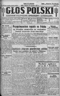 Głos Polski : dziennik polityczny, społeczny i literacki 22 styczeń 1927 nr 21