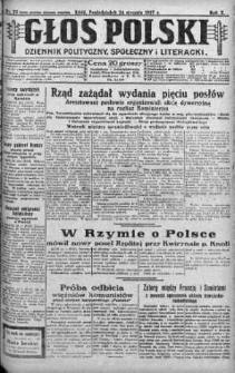 Głos Polski : dziennik polityczny, społeczny i literacki 24 styczeń 1927 nr 23