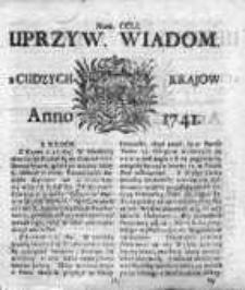 Uprzywilejowane Wiadomości z Cudzych Krajów 1741, Nr 251