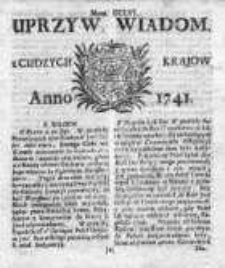 Uprzywilejowane Wiadomości z Cudzych Krajów 1741, Nr 256