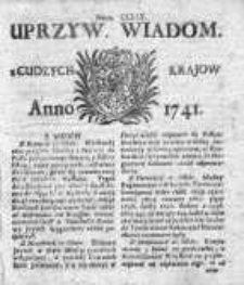 Uprzywilejowane Wiadomości z Cudzych Krajów 1741, Nr 259