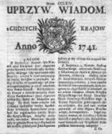 Uprzywilejowane Wiadomości z Cudzych Krajów 1741, Nr 264