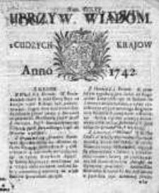 Uprzywilejowane Wiadomości z Cudzych Krajów 1742, Nr 265