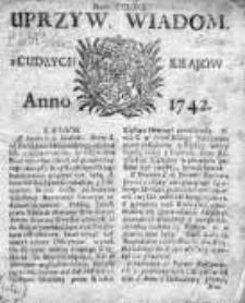 Uprzywilejowane Wiadomości z Cudzych Krajów 1742, Nr 269