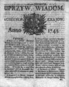 Uprzywilejowane Wiadomości z Cudzych Krajów 1743, Nr 333