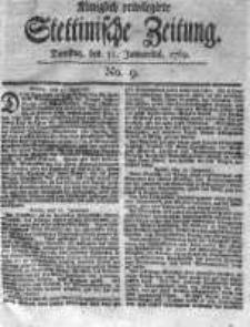 Stettinische Zeitung. Königlich privilegirte 1769, Nr 9