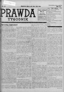 Tygodnik Prawda 8 lipiec 1934 nr 28